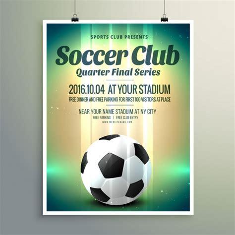 coupe de football s 233 rie finale flyer template