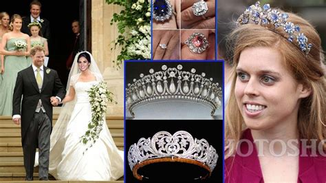 meghan markle what tiara did she wear princess eugenie s engagement ring what tiara she