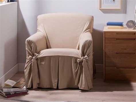 housse fauteuil beige housse fauteuil bachette 1 place 100 coton ines beige