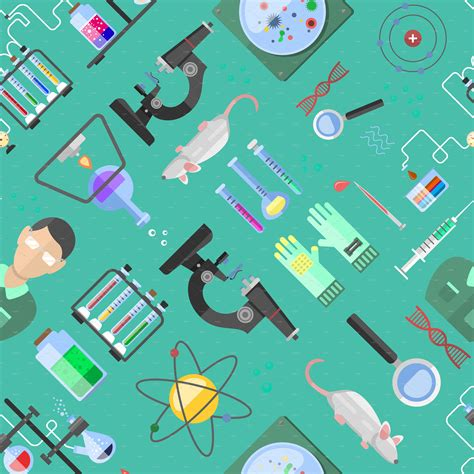 pattern lab themes science background biology vector illustrations