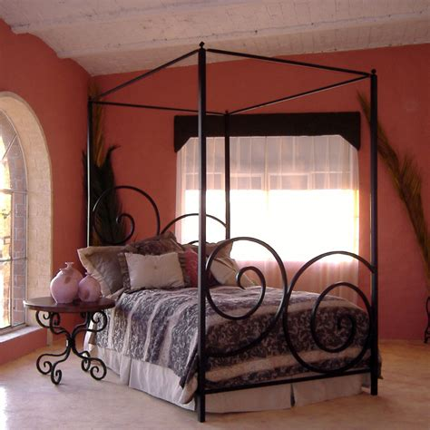 Wrought Iron Bed Frame by The Bedroom With A Decorative Wrought Iron Bed