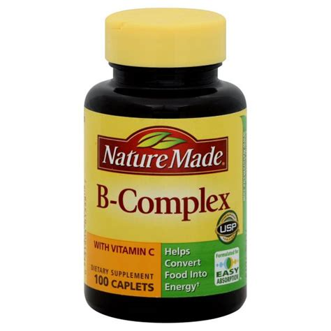 Vitamin B Complex Wellness Nature Made B Complex With Vitamin C 100 Caplets Health