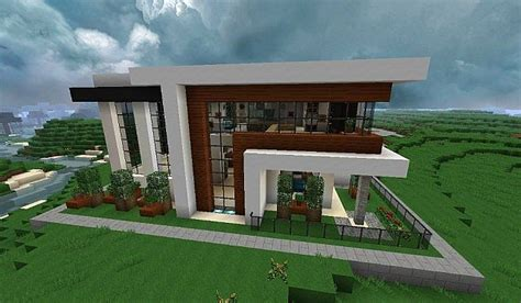 minecraft modern house floor plans modern house minecraft pinteres
