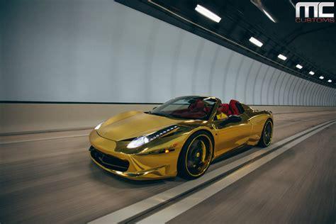 gold ferrari 458 robinson cano s gold ferrari 458 by mc customs