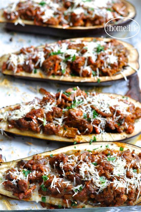 stuffed eggplant parmesan boats  home love life