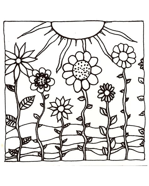 coloring page sunset download printableadult coloring page digital hand drawn