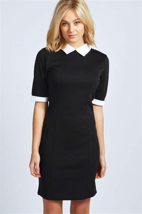 Sleeve Contrast Collar Dress boohoo heidi sleeve contrast collar bodycon dress ebay