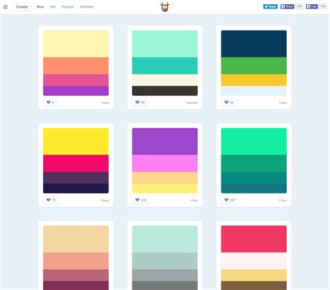 color hunt color hunt awesome colour schemes for everyday use and