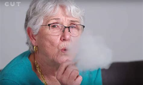 Cannabis Light Drink Watch This Grandma Smoke Marijuana For The First Time With