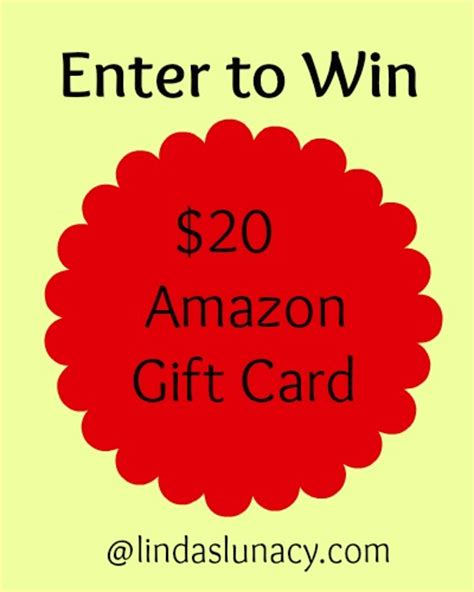 Amazon 20 Gift Card - 20 amazon gift card giveaway linda s lunacy