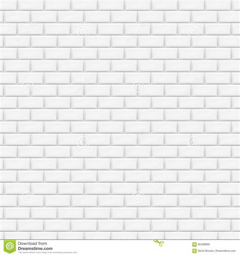 pattern tile illustrator white brick wall in subway tile pattern vector