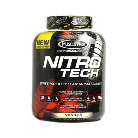 Suplemen Nitro Tech Muscletech Products Nitro Tech Performance Series Whey