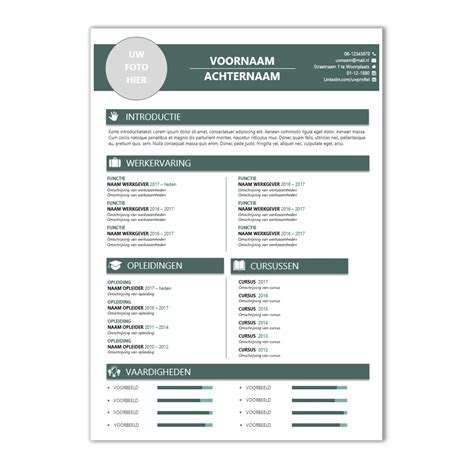 Voorbeeld Een Cv En Motivatiebrief Op 1 A4 Voor Een cv voorbeeld 41 cv template cv voorbeelden nl