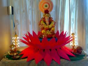 Decoration For Ganesh Festival At Home Ganpati Decoration At Home Ideas God Wallpapers