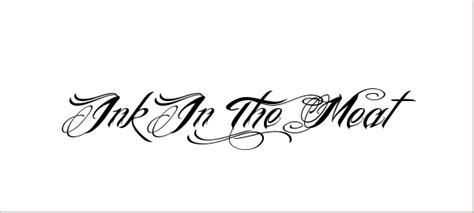 tattoo font ink in the meat ink in the meat font tattoo www pixshark com images