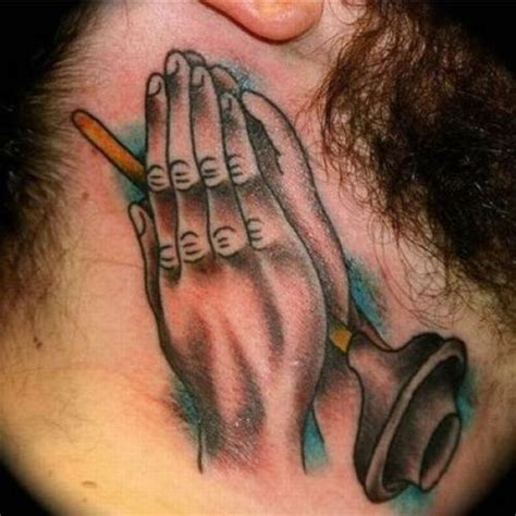 tattoo on hand bad idea bad tattoo 988 please say a prayer team jimmy joe