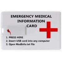 medical card section contact number universal usb medical information storage card sound