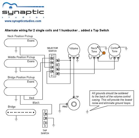 alternate  single coils  humbucker wiring diagram