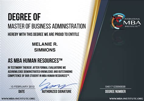 Mba Without Special Accreditation by What Is Usd 597 Mba Human Resources Degree Program