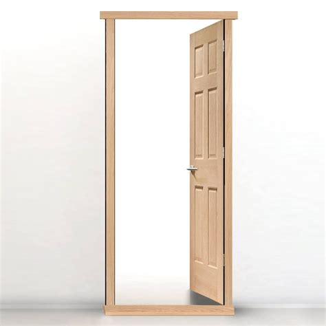 Single Door Frame Kit In Oak Veneer Or White Primed Mdf Interior Doors With Frames