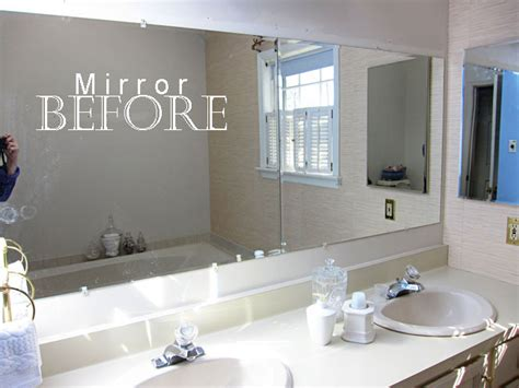 frame bathroom mirror without glue how to decorate your