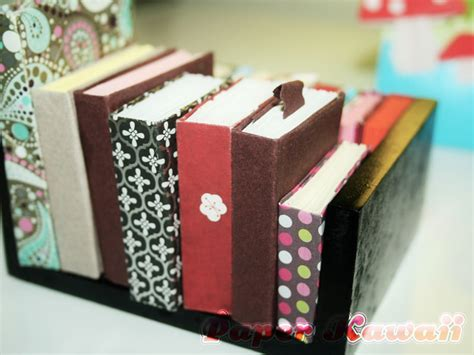 How To Make Origami Books - mini origami books tutorial paper kawaii