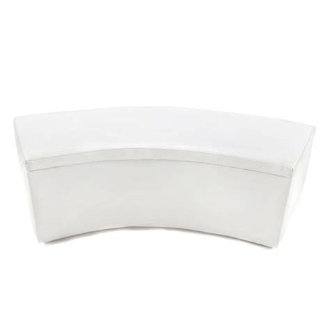 curved leather bench smooth white leather curved bench