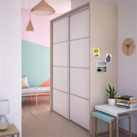 Charmant Ikea Porte Placard Cuisine #3: porte-de-placard-coulissante-a-composer-spaceo-decor-blanc-mat.jpg