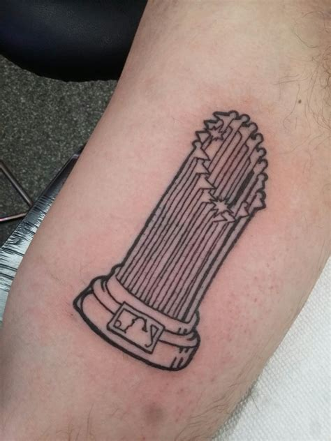 cubs tattoo world series trophy for the chicago cubs chicago