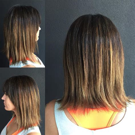 Textured Bob Cut With A Razor | women s textured razor cut bob with brow skimming bangs