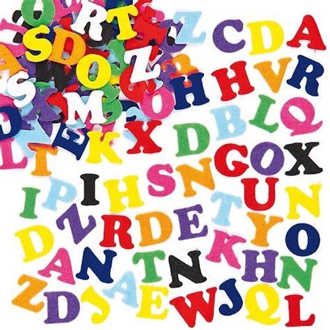 Stoff Aufkleber Buchstaben by Selbstklebende Filz Buchstaben Im Vorteilspack Baker Ross