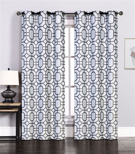 charcoal curtain panels pair of maritza jacquard silver charcoal window curtain