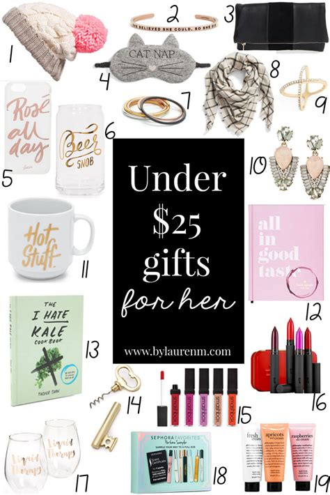 trendy gifts for her 2016 under 25 gifts for her by lauren m