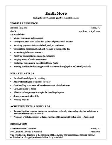 cashier resume sle fast food cashier resume how to write 16 exles