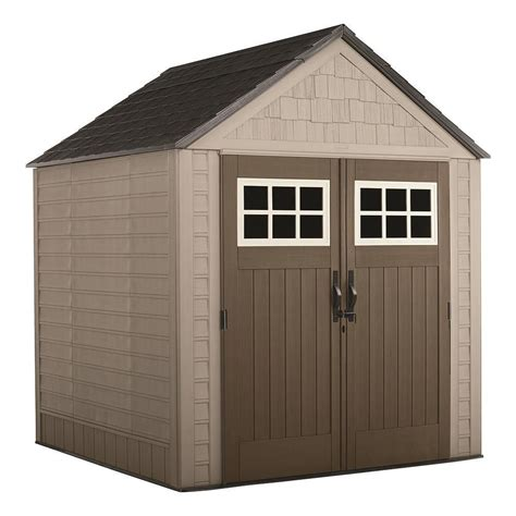 rubbermaid big max  ft   ft storage shed  home