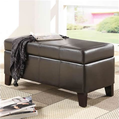 blanket storage bench modus urban seating blanket storage bench in chocolate
