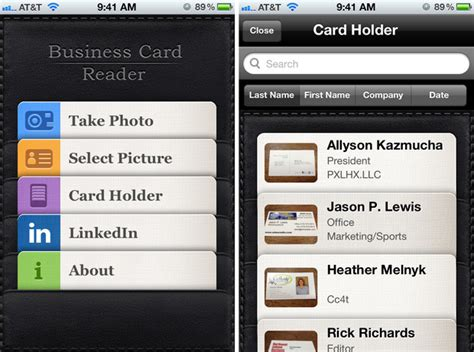 Business Card Organizer App