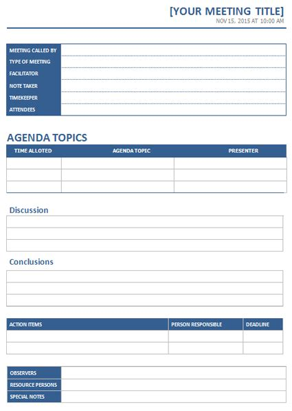 word meeting template ms word meeting minutes template office templates