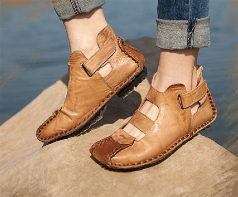 Handcrafted Shoes - handmade summer shoes for flat shoes casual shoes