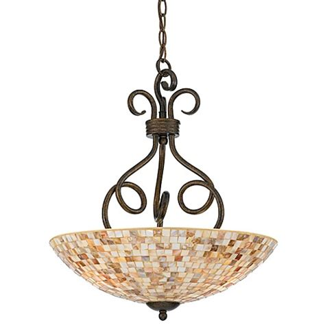 Mosaic Pendant Lighting Buy Quoizel 174 Monterey Mosaic 3 Light Pendant From Bed Bath Beyond