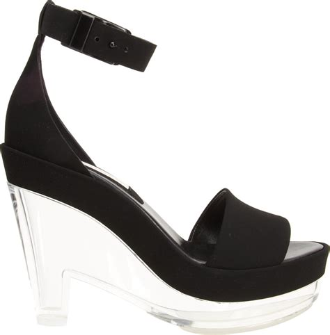 Stella Mccartney Sea Grass Wedges by Stella Mccartney Lucite Wedge Sandal In Black Lyst