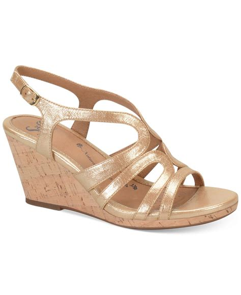 wedge sandals s 246 fft corinth platform wedge sandals in metallic lyst