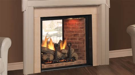 See Through Fireplace Insert sided gas fireplace