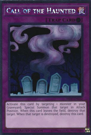 Yugioh Call Of The Haunted Original call of the haunted nkrt en032 platinum noble knights of the table singles yugioh