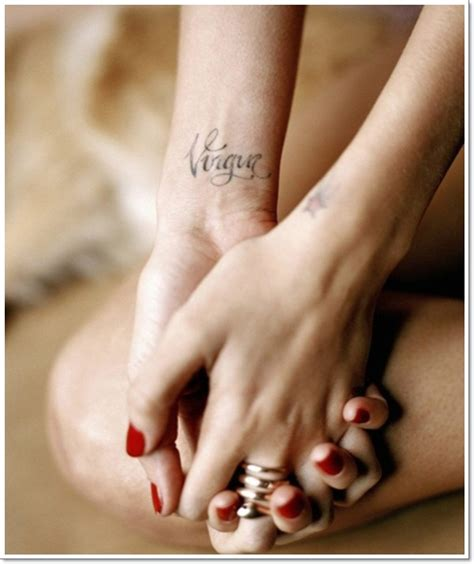 virgo tattoos on wrist wrist virgo tattoo1