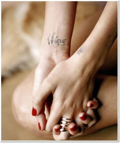 virgo wrist tattoos wrist virgo tattoo1