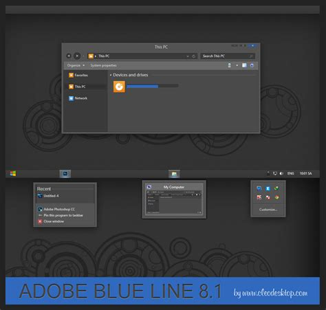 theme line blue adobe blue line theme windows 8 1 by cleodesktop on deviantart