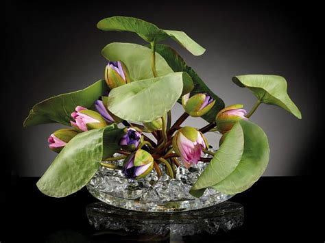 crown lotus artificial plant crown lotus by vgnewtrend