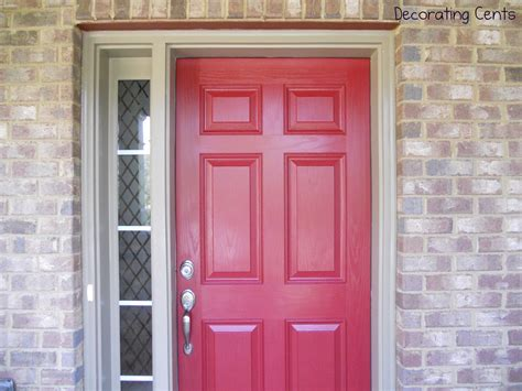 red front door decorating cents a red front door