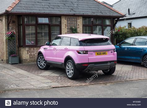 pink range rover pink range rover evoque stock photo 188756077 alamy